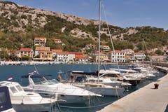 Baska marina, Croatia stock image