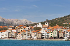 Baska seafront Royalty Free Stock Image