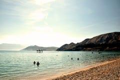 Baska-Strand, Kroatien lizenzfreies stockfoto