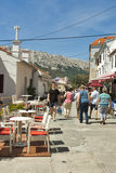 Baska street, Croatia Royalty Free Stock Photos