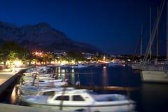 Baska Voda Hafen Kroatien Lizenzfreie Stockfotografie