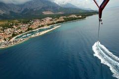 Baska Voda parasailing Stock Photo
