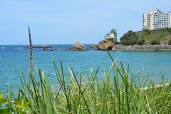Baskar för Biarritz villaBelza CÃ'te des sätter på land Frankrike arkivfoto