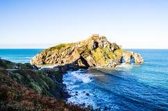 BASKENLAND SPANIEN San Juan de Gaztelugatxe lizenzfreies stockfoto