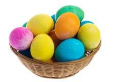 basker ζωηρόχρωμη μεγάλη λυγαριά αυγών Πάσχας Στοκ Φωτογραφίες