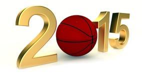 Basket 2015 år Arkivbilder