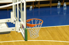 Basket. Close-up on a basket in a pro-court stock images