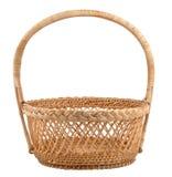 Basket. Wooden basket on isolated background Royalty Free Stock Photo