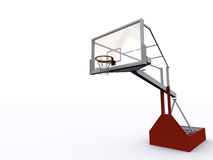 Basket. 3D model of basketball field Royalty Free Stock Photo
