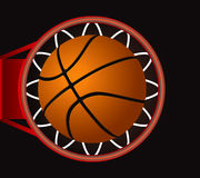 Basket. Black Basketball Score Vector Drawing Vector Illustration