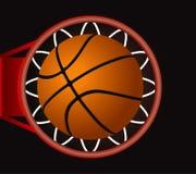 Basket. Black Basketball Score Vector Drawing Royalty Free Stock Photos