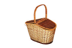 Basket. Empty basket with two covers Stock Image