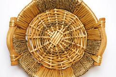 Basket. Wave basket for products fruits and other Stock Image