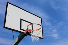 Basket. Hoop over blue sky Royalty Free Stock Photography