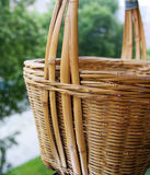 Basket. A empty bamboo basket on background Stock Images