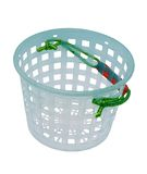 Basket. Cone plastic basket on a white background Royalty Free Stock Photography