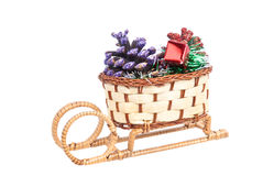 Basket. A basket, isolaten on white Stock Photo