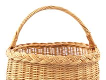 Basket. Part of basket  on white background Stock Photography