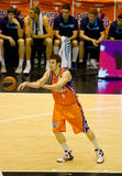 Basket. VALENCIA, SPAIN - JANUARY 28: Victor Claver in action during the ACB league match between Valencia Basket  and Asefa Estudiantes, 85-71, on January 28 Stock Photos