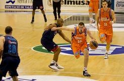 Basket. VALENCIA, SPAIN - JANUARY 28: Nando De Colo (#22) in action with the ball during the ACB league match between Valencia Basket  and Asefa Estudiantes, 85 Stock Photos