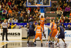 Basket. VALENCIA, SPAIN - JANUARY 28: Florent Pietrus (#20 player) in action during the ACB league match between Valencia Basket  and Asefa Estudiantes, 85-71 Stock Image