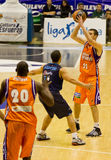 Basket. VALENCIA, SPAIN - JANUARY 28: Nando De Colo (#22) in action during the ACB league match between Valencia Basket  and Asefa Estudiantes, 85-71, on January Royalty Free Stock Photos
