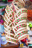 Basket. The Basket it is hand made from thailand Royalty Free Stock Photo