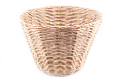 Basket. Empty wicker basket isolated on white Stock Photo