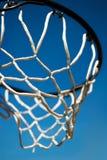Basket. Sport basket against the blue Stock Image