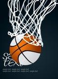 Basket 3. Basketball Basket 3 Vector Drawing Stock Photography