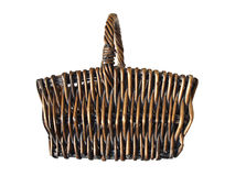Basket. A basket with a handle. You can fill in what you want Stock Photos