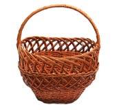 Basket. Wooden basket isolated on white Stock Photo