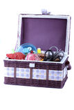 Basket with accessories to sewing Stock Photography
