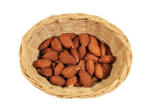 Basket of almonds Stock Photo