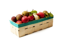 Basket with apple Stock Photo