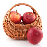 Basket apple Royalty Free Stock Photo