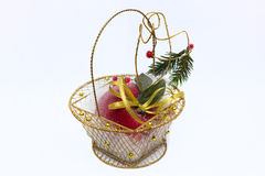 Basket with an apple frost Royalty Free Stock Photo