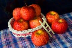 A basket of apple Stock Photos