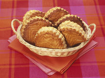 Basket of apple turnovers Royalty Free Stock Image