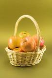 Basket of apples Stock Image