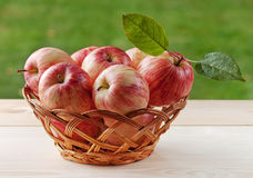 Basket with apples. Basket with bright red apples Royalty Free Stock Photos