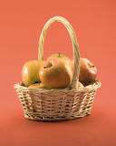 Basket of apples. Basket full of apples royalty free stock images