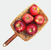 A basket of apples stock photography