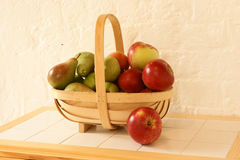 Basket of apples and pears Royalty Free Stock Photo