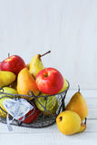 Basket of apples and pears Stock Image