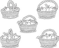 Basket apples Stock Photo