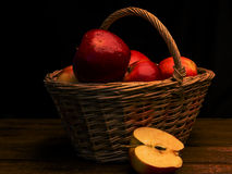 The basket of apples Stock Photo