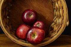 Basket of apples. An  basket  of apples taken at125th Stock Images