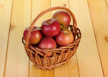 Basket with the apples Stock Image