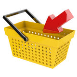 Basket with arrow Royalty Free Stock Photography